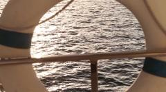 Yacht Liferaft Rack Focus Stock Footage