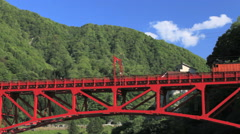 Sagano Scenic Railway, Toyama Prefecture, Japan Stock Footage
