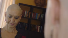 Happy cancer survivor after successful chemotherapy. Stock Footage
