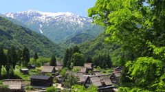 Gokayama Village, Ishikawa Prefecture, Japan Stock Footage