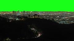Los Angeles Night City Timelapse Green Screen Chroma Key Stock Footage