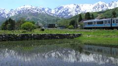 View of Hakuba, Nagano Prefecture, Japan Stock Footage