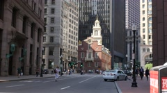 4K Old State House Boston Stock Footage