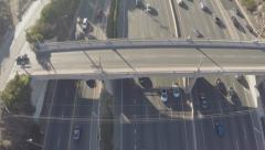 Aerial Shot of Traffic on 101 Freeway Stock Footage