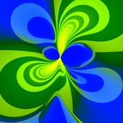 Abstract green blue splash background - unique Stock Illustration