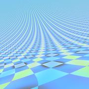 abstract bright blue endless 3d background - stock illustration