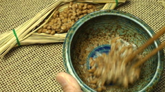Japanese Natto beans Stock Footage