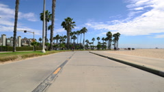 4K Venice Beach Hyperlapse 04 Boardwalk Motion Timelapse California Stock Footage