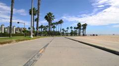 4K Venice Beach Hyperlapse 04 Boardwalk Motion Timelapse California Stock Footage