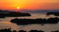 Sunset at Ise-Shima, Mie Prefecture, Japan Stock Footage