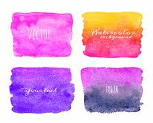 Wet Watercolor Ombre Backgrounds. Hand Painted. - stock illustration