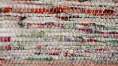 Texture of homespun fabrics Stock Footage