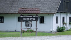 Museum board in Kumrovec Croatia Stock Footage