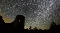 Time lapse of stars behind Syuyrenskaya fortress, Crimea Stock Footage