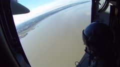 View from cargo door of a C-17 Globemaster during Arctic Thunder 2014 Airshow Stock Footage