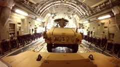 Inside a C-17 Globemaster during Arctic Thunder 2014 Airshow Stock Footage