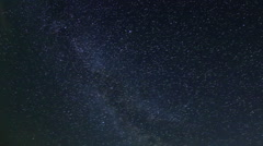 Time lapse of stars behind mountain. Cave city Bakla, Crimea Stock Footage