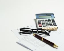 salary slip - stock photo