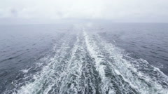 Follow ferry in rain Stock Footage