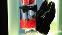Groom shoes Stock Footage