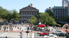Faneuil Hall Boston Stock Footage