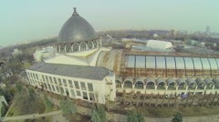 Cupola of pavilion on territory of VDNH exhibition center Stock Footage
