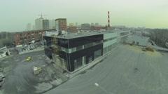 Building site of automobile sales centre in Sokolniki - stock footage