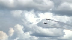 Stock Video Footage of Thunderbirds display team at the Artic Thunder airshow 2014