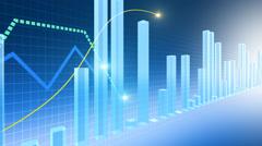 CG illustration of graph Stock Footage