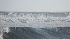 Sea waves at the beach in Hamamatsu, Shizuoka Prefecture, Japan Stock Footage