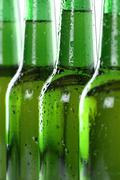 alcohol beer drinks in bottles - stock photo