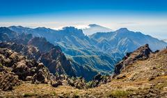 Volcanic mountains landscape. Stock Photos