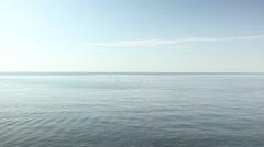 Mediterranean sea. Beautiful blue horizon beach waves. Calm background Stock Footage