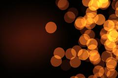 glowing christmas lights - stock photo