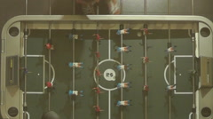 Table Football Scores a Goal Stock Footage