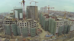 Cityscape with building site of residential complex Vinogradny Stock Footage