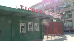 Fenway Park Baseball Ground Ticket Window Boston Stock Footage