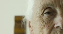 open and close eye of old woman , eyes , elderly - stock footage