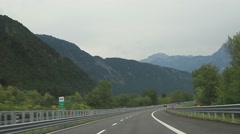 The highway in the Alps - stock footage