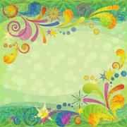 Christmas background with abstract patterns Stock Illustration