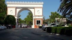 Main gate of the luxury hotel in Turkey. Stock Footage