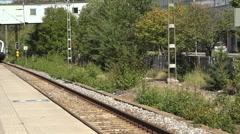 Commuter train in sweden Stock Footage
