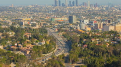 Los Angeles Day City View Timelapse Vista Mulholland Stock Footage