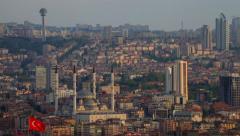 Ankara City Time Lapse Stock Footage