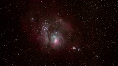 A slow zoom in on the Lagoon Nebula Stock Footage