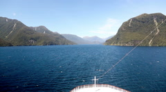 Doubtful Sound in New Zealand Stock Footage