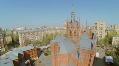 Stock Video Footage of cathedral of Immaculate Conception of Blessed Virgin Mary