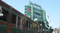 4K Boston Red Sox Back Of The Score Board Stock Footage