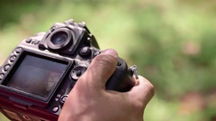 4of6 Man, photographer, photography, pictures, digital camera equipment - stock footage