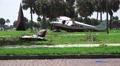 Airplane's Broken Wing And Landing Gear Fuselage Background Crash Wreckage 4K 4k or 4k+ Resolution